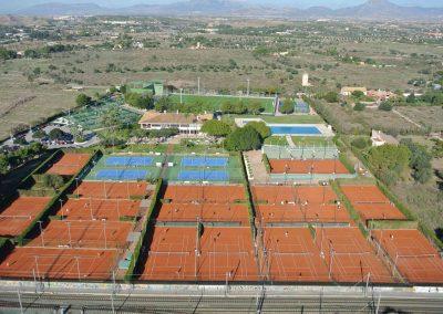 Foto aérea tenis - Instalaciones